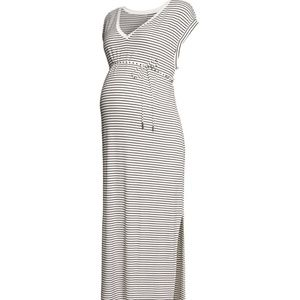 H&M MAMA Maternity Striped Jersey Dress - Size S